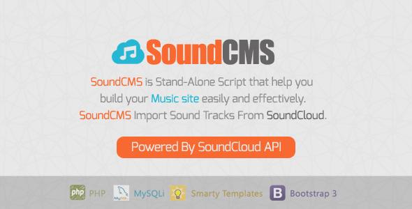 Download SoundCMS - SoundCloud Based CMS nulled download