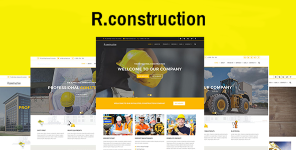 Download R.construction- Construction Business HTML5 Template
