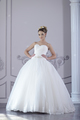 Beauty bride in bridal gown indoors