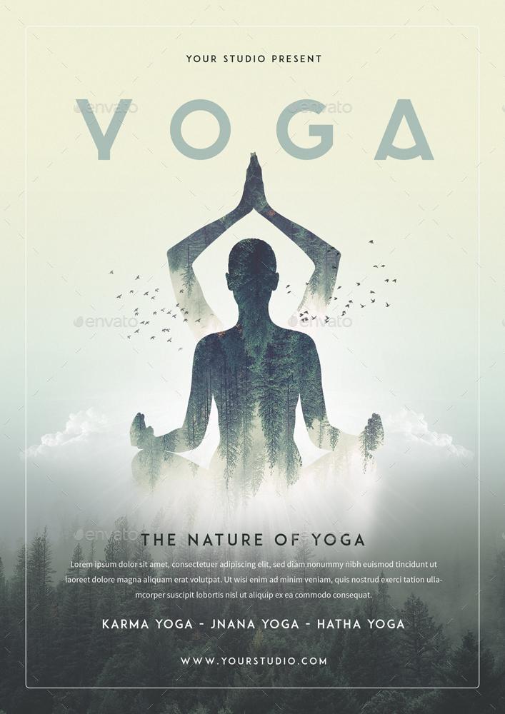 Yoga Bundle Set 1 Flyer Roll Banner by MONOGRPH – Yoga Flyer