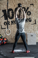 American swing with kettlebell