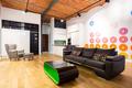 Designed interior with contemporary furniture