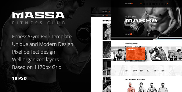 Massa — Fitness/Gym/Sports Blog PSD Template