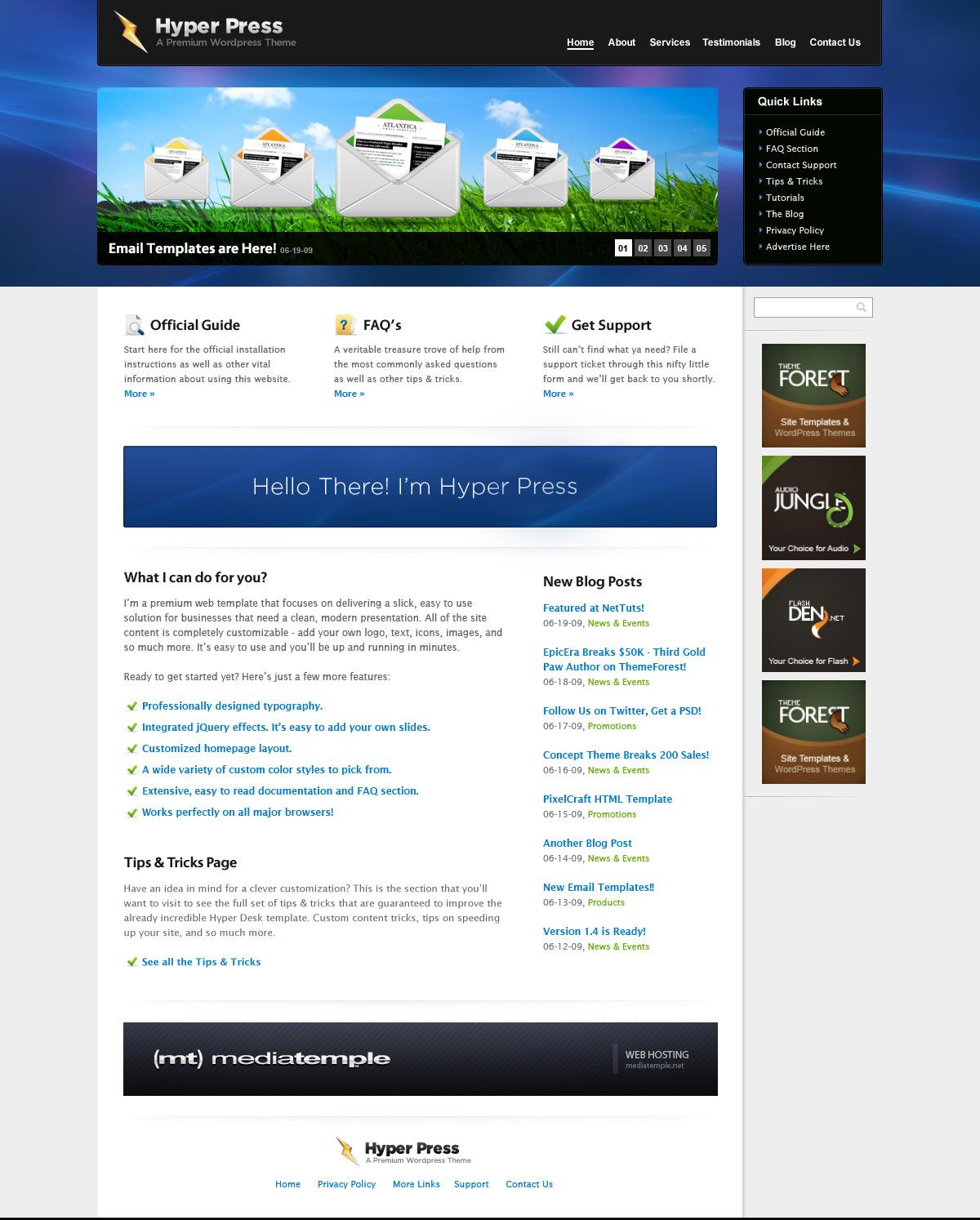 HYPER PRESS - Premium PSD Template