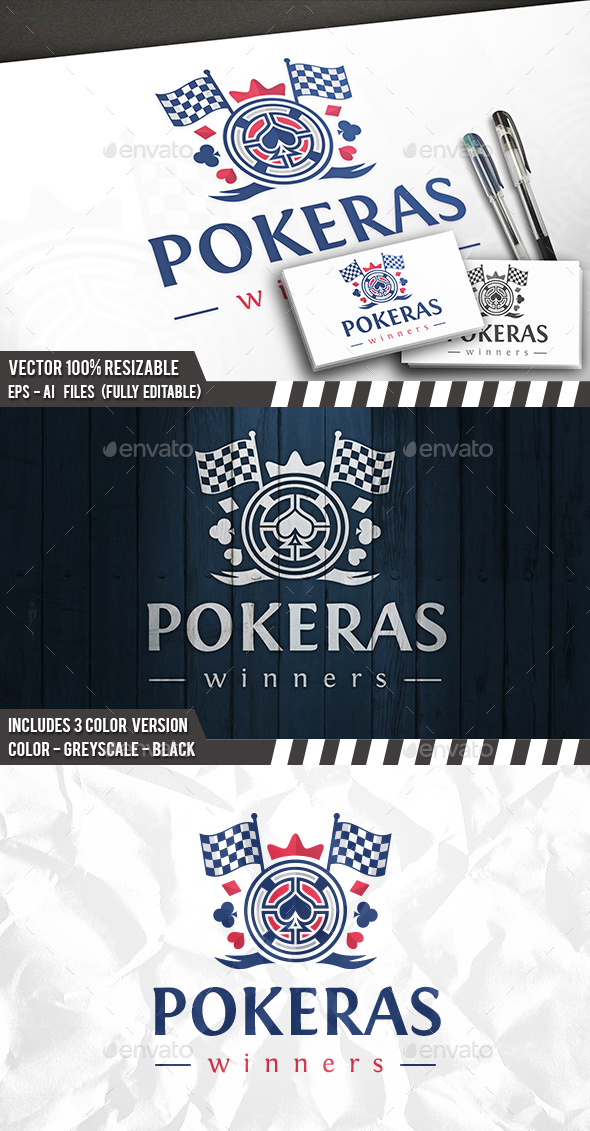 Poker Flag Logo