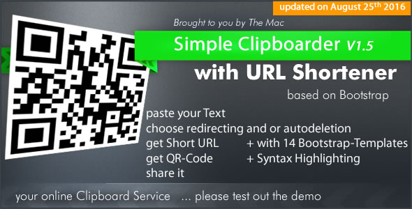 Simple Clipboarder with URL Shortener Service