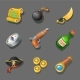 Pirate Icons Set of Corsair Items