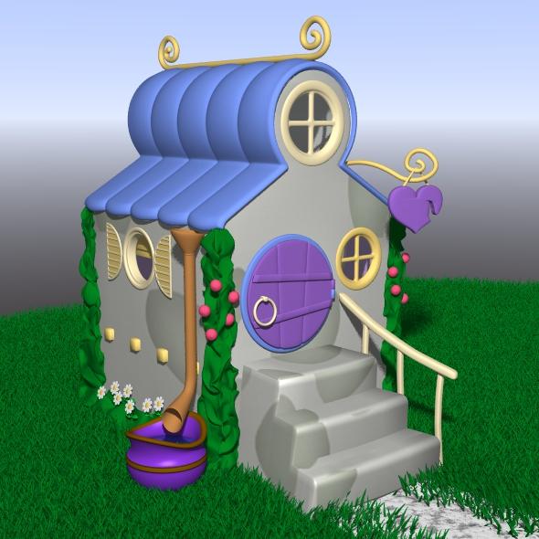 Cartoon house - 3DOcean Item for Sale