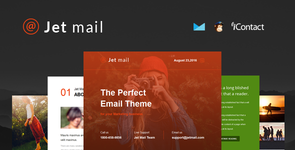 Jet mail - Responsive E-mail Template + Online Access
