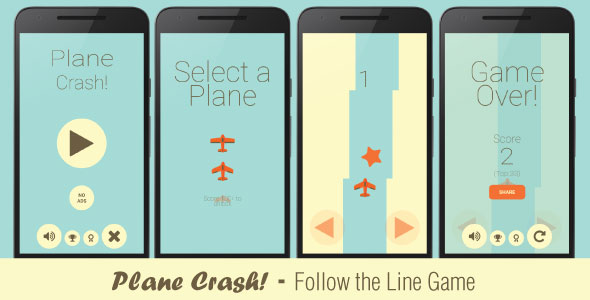 Plane Crash! - follow the line game - CodeCanyon Item for Sale