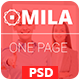 Mila - One Page PSD