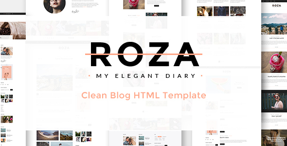 Download Roza - Clean Blog HTML Template