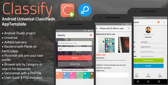 Download Classify | Android Universal Classifieds App Template nulled download