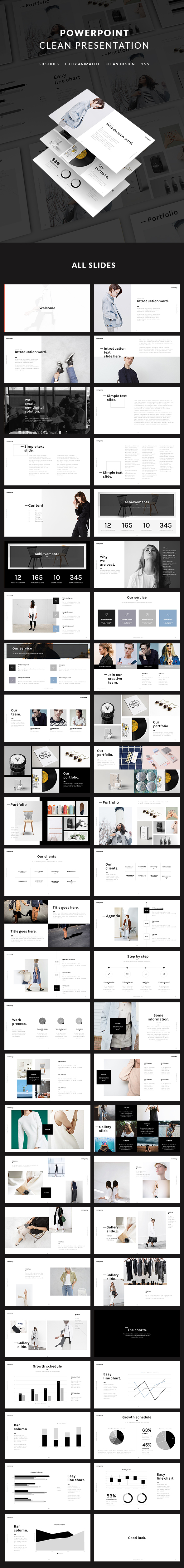Clean Presentation (PowerPoint Templates)