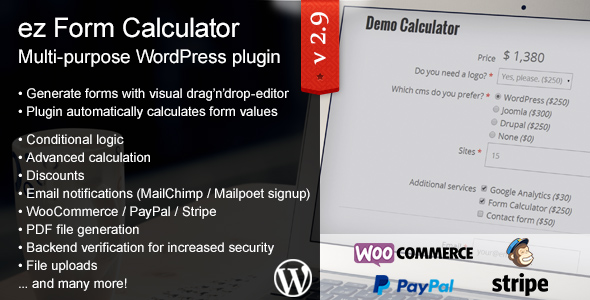 ez Form Calculator – WordPress plugin