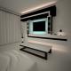 Minimalizm interior night room
