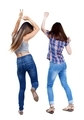 Back view of two dancing young women.