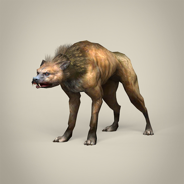 Game Ready Fantasy Hyena - 3DOcean Item for Sale