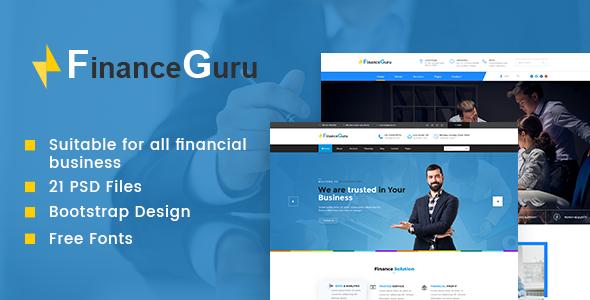 Finance Guru   Finance PSD Theme