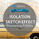 Isolation Sketch Photoshop Action
