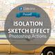 Isolation Sketch Photoshop Action