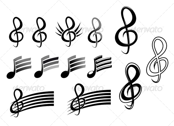 GraphicRiver Music keys and notes 68302
