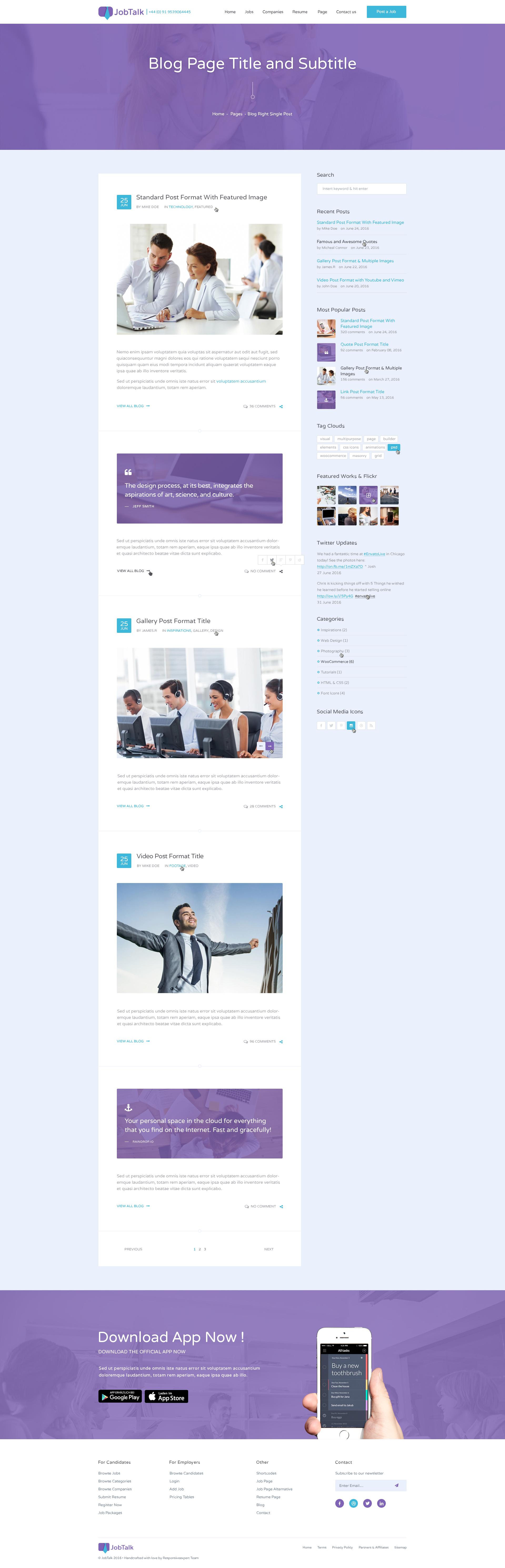 jobtalk job board psd template by themelexus themeforest jobtalk job board psd template