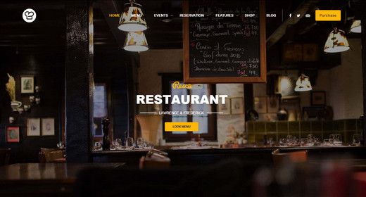 Restaurant WordPress Theme 2015