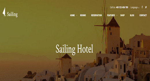 Responsive WordPress Hotel Theme