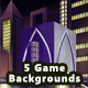 5 Platformer City Game Backgrounds - Parallax & Stackable