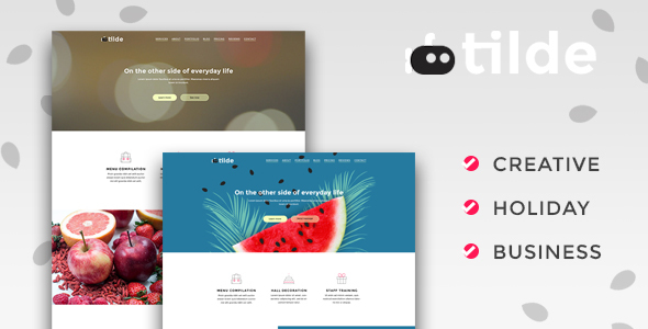 Image of Tilde – Creative Multipurpose Landing Page