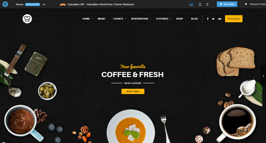 WP Restaurant Theme 2016