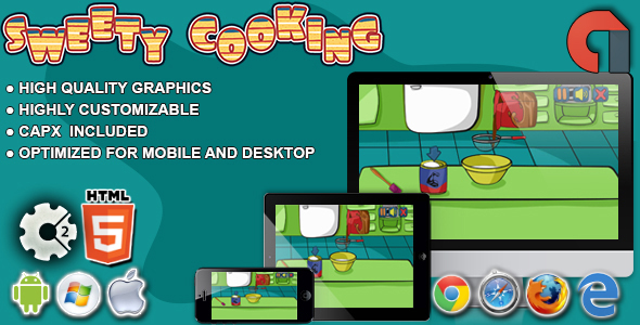 Sweety Cooking:Chocolate Cake-HTML5 Construct Game