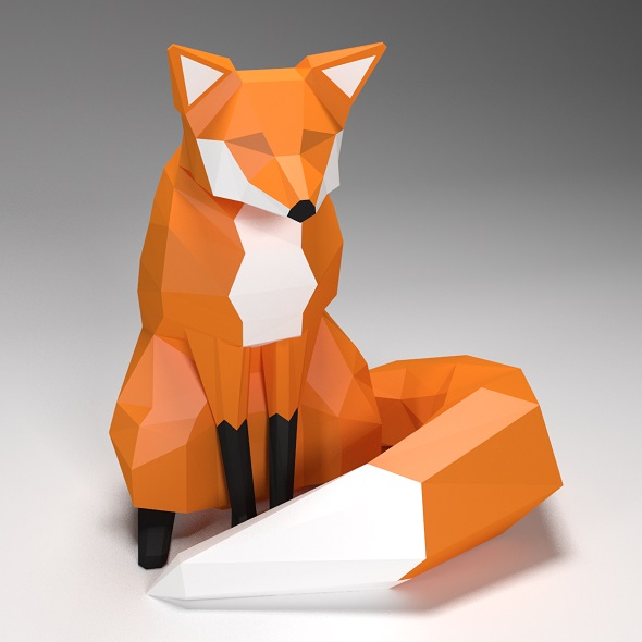 fox low poly style - 3DOcean Item for Sale