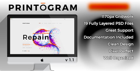 Printogram - PSD Template