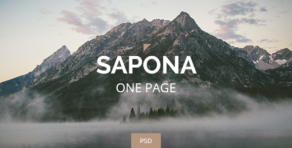 Sapona - One Page PSD
