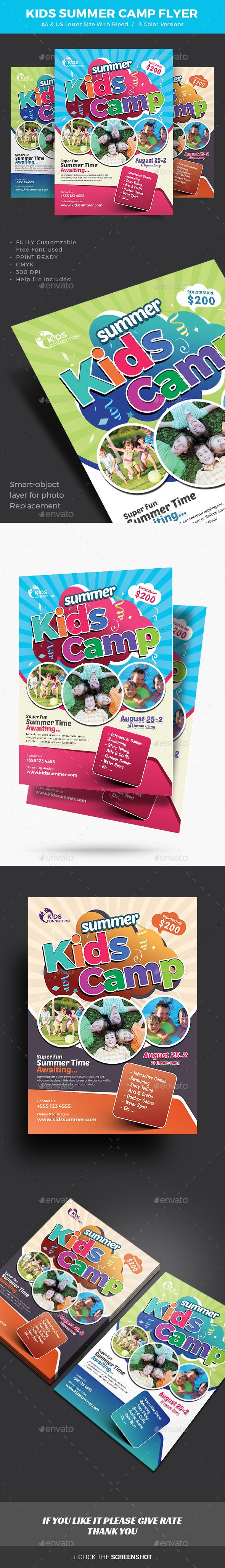 Kids Summer Camp Flyer