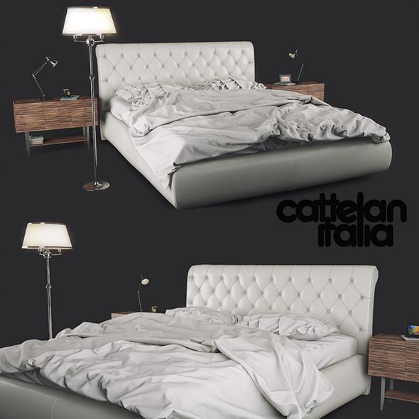 Bed Cattelan Italia Alexander - 3DOcean Item for Sale