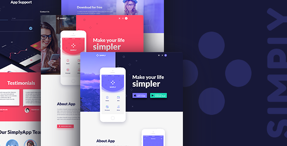 Simply - Onepage App Template