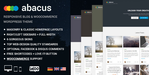 Download Abacus - Responsive Blog & Shop Theme