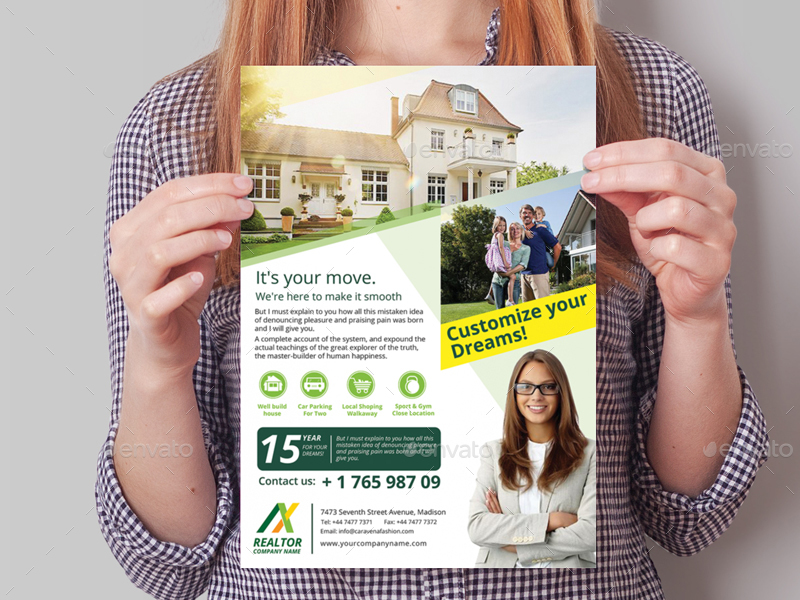 Realtor Flyer Template by wutip2 | GraphicRiver