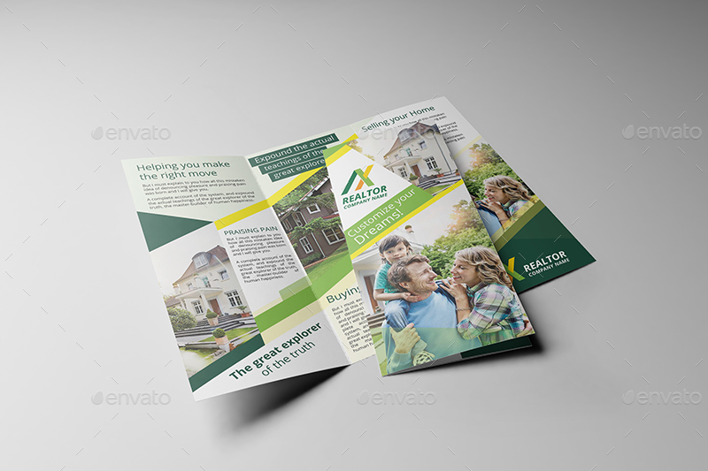 Realtor Trifold Brochure Template by wutip2 – Realtor Brochure Template