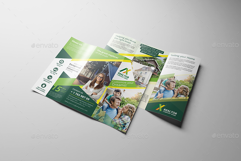 Realtor tri fold brochure template by wutip2 graphicriver for Realtor brochure template