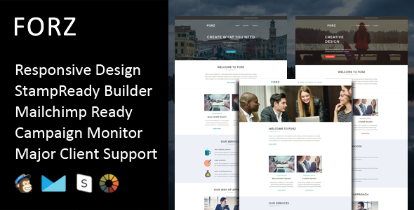 Forz - Multipurpose Responsive Email Template + Stampready Builder