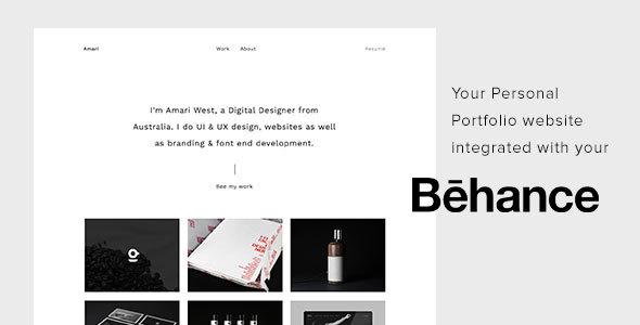 Amari - Behance Portfolio HTML Template