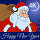 New Year Animated Card With Santa Claus 4K