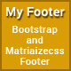 My Footer - Responsive HTML Bootstrap and Materializecss Footer
