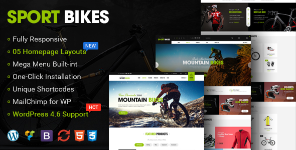 Sportbikes - Responsive WooCommerce WordPress Theme