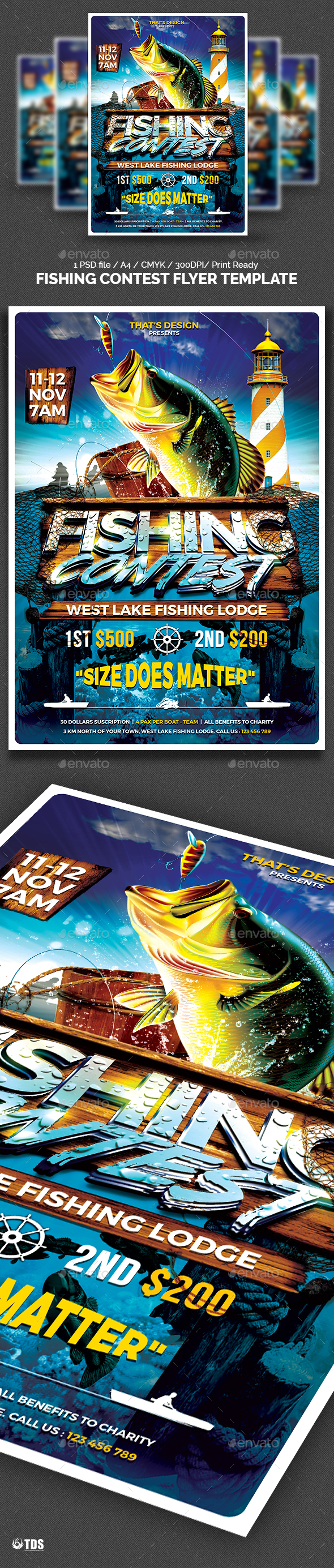 Fishing poster graphics designs templates from graphicriver saigontimesfo