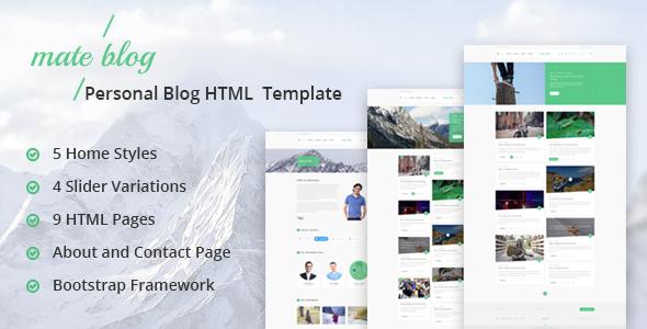 Mate Blog - Responsive Personal Blog Template